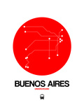 Buenos Aires Red Subway Map Posters by  NaxArt