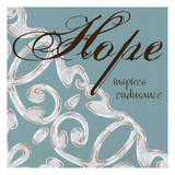 Crackle Filigree Hope Prints