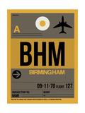 BHM Birmingham Luggage Tag I Poster von  NaxArt