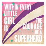 Superhero Girl Mate Prints