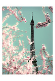 Spring Eiffel Green Poster