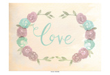 Flowered Love Poster