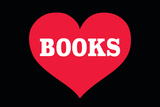 Heart (Love) Books Plastic Sign by  Ephemera