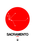 Sacramento Red Subway Map Posters by  NaxArt