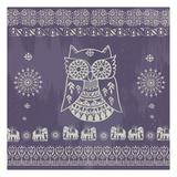 Boho Owl Purple Poster