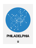 Philadelphia Blue Subway Map Prints by  NaxArt