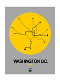 Washington D.C. Yellow Subway Map Prints by  NaxArt