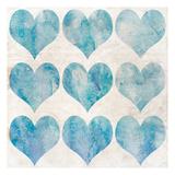 Watercolor Hearts 1 Prints