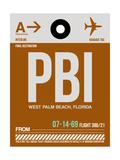 PBI West Palm Beach Luggage Tag II Poster by  NaxArt
