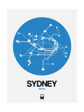 Sydney Blue Subway Map Posters by  NaxArt