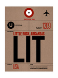 LIT Little Rock Luggage Tag I Print by  NaxArt