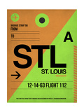 STL St. Louis Luggage Tag I Posters by  NaxArt