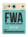 FWA Fort Wayne Luggage Tag I Prints by  NaxArt