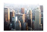 Hazy NYC Skyline Posters