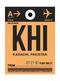 KHI Karachi Luggage Tag I Posters by  NaxArt