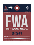 FWA Fort Wayne Luggage Tag II Posters by  NaxArt