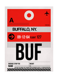 BUF Buffalo Luggage Tag I Posters by  NaxArt