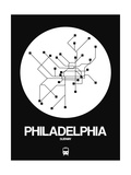 Philadelphia White Subway Map Prints by  NaxArt