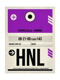 HNL Honolulu Luggage Tag I Prints by  NaxArt