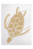 Golden Sea Turtle Posters