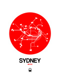 Sydney Red Subway Map Posters by  NaxArt