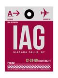 IAG Niagara Falls Luggage Tag I Print by  NaxArt