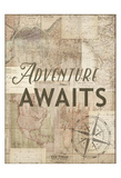 Adventure Awaits Recolor Poster