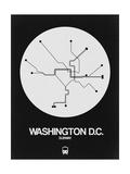 Washington D.C. White Subway Map Posters by  NaxArt