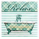 Relaxed Plaid Bath Poster
