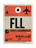 FLL Fort Lauderdale Luggage Tag I Poster by  NaxArt