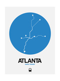 Atlanta Blue Subway Map Posters by  NaxArt