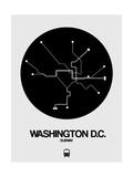 Washington D.C. Black Subway Map Art by  NaxArt