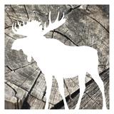 Wood Moose Reverse Mate Poster