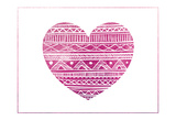 Tribal Heart Print