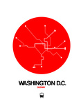 Washington D.C. Red Subway Map Posters by  NaxArt