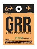GRR Grand Rapids Luggage Tag I Prints by  NaxArt