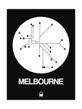 Melbourne White Subway Map Prints by  NaxArt