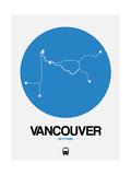 Vancouver Blue Subway Map Prints by  NaxArt