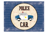 Police Car Blues Posters