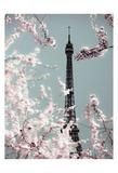 Spring Eiffel Pastel Affiches