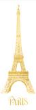 Gold Foil Paris Posters