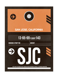 SJC San Jose Luggage Tag II Prints by  NaxArt