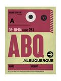 ABQ Albuquerque Luggage Tag II Art by  NaxArt
