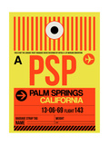 PSP Palm Springs Luggage Tag I Posters af  NaxArt