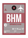 BHM Birmingham Luggage Tag II Art by  NaxArt