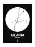 Atlanta White Subway Map Posters by  NaxArt