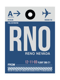 RNO Reno Luggage Tag II Prints by  NaxArt