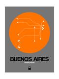 Buenos Aires Orange Subway Map Prints by  NaxArt