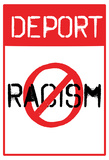 Deport Racism Distressed Street Sign Posters