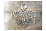 Silver Gold Chandelier Posters